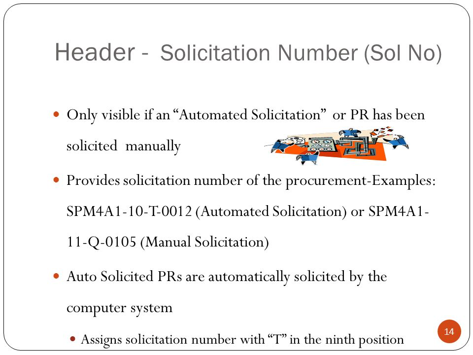 Header - Solicitation Number (Sol No)