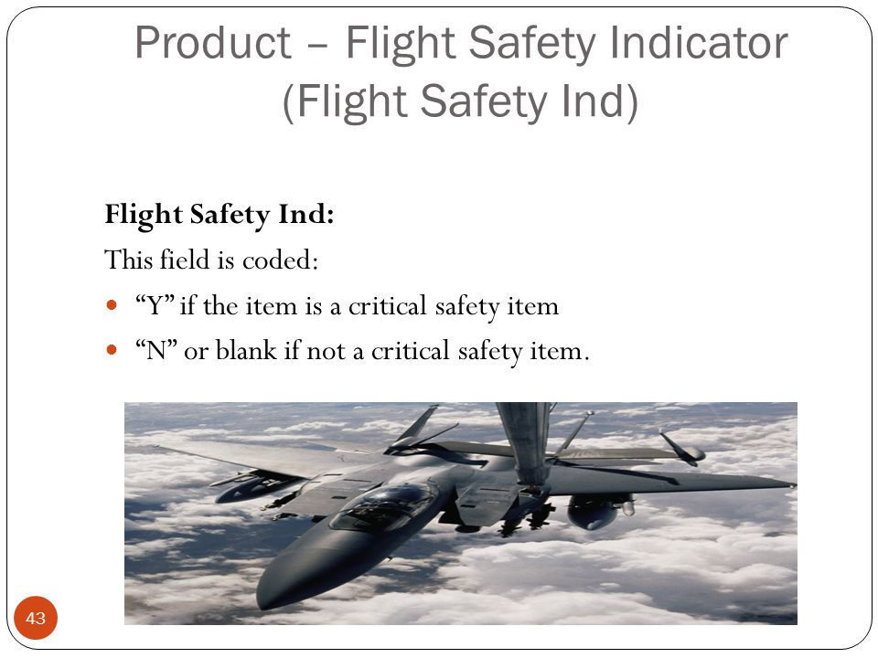 Product – Flight Safety Indicator (Flight Safety Ind)