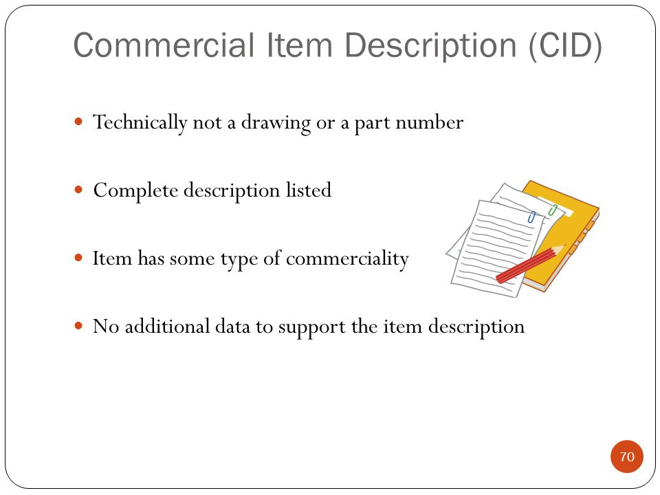 Commercial Item Description (CID)