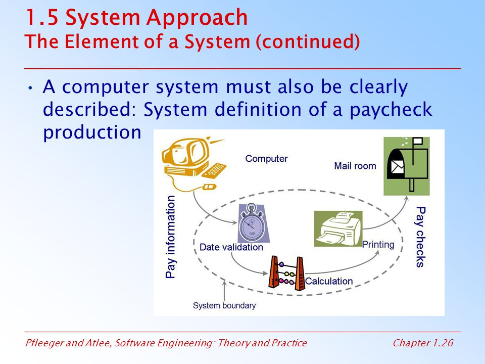 1.5 System Approach The Element of a System (continued)