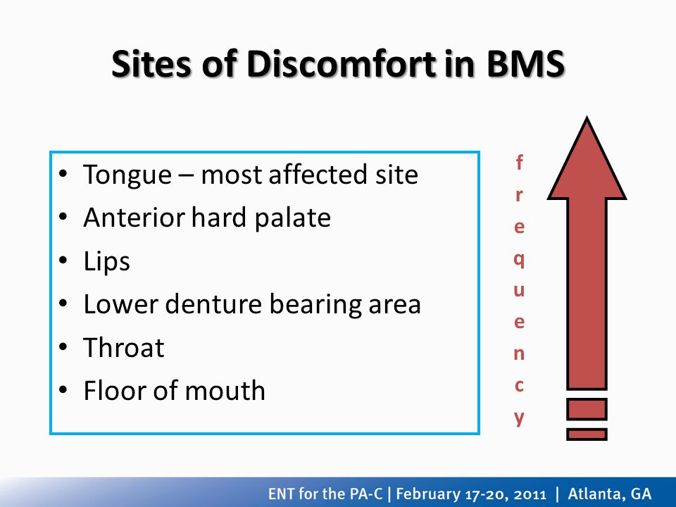 Sites of Discomfort in BMS