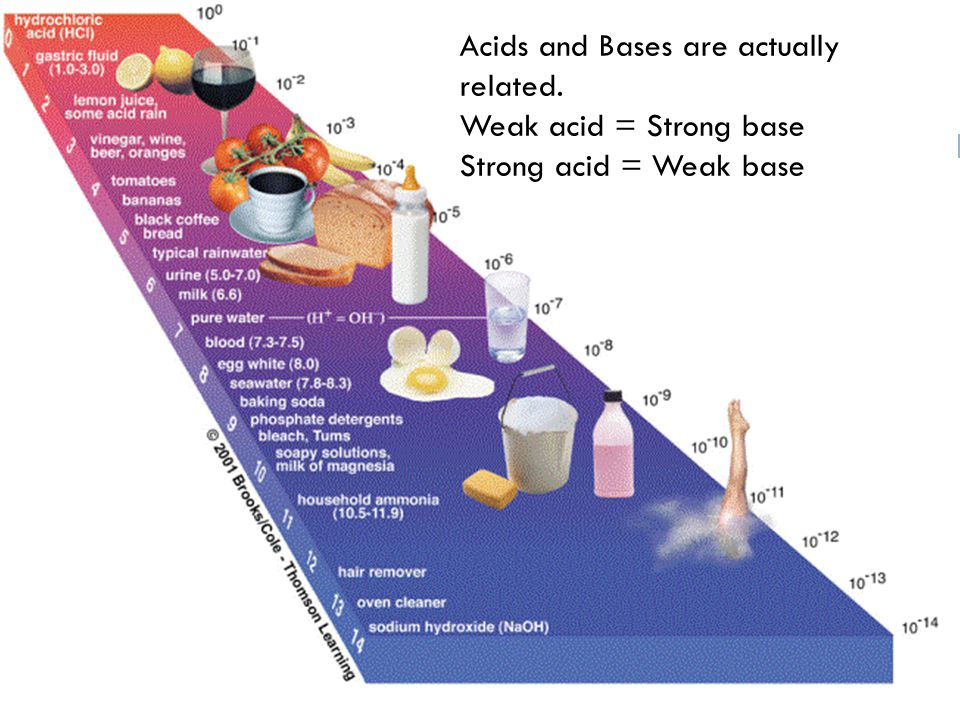 Acids and Bases are actually related.