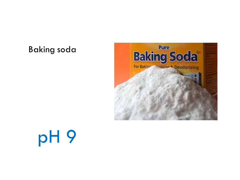 Baking soda pH 9