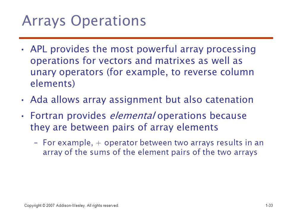 Arrays Operations