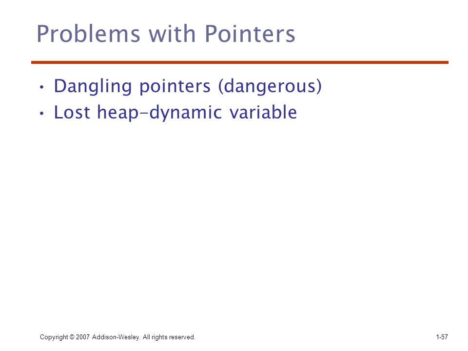 Problems with Pointers