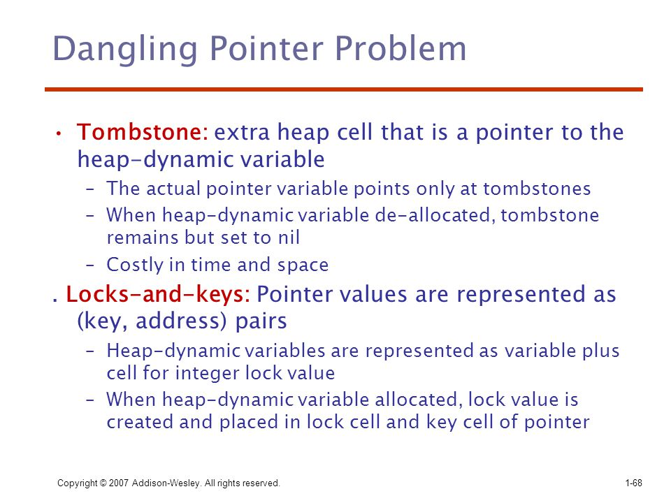 Dangling Pointer Problem