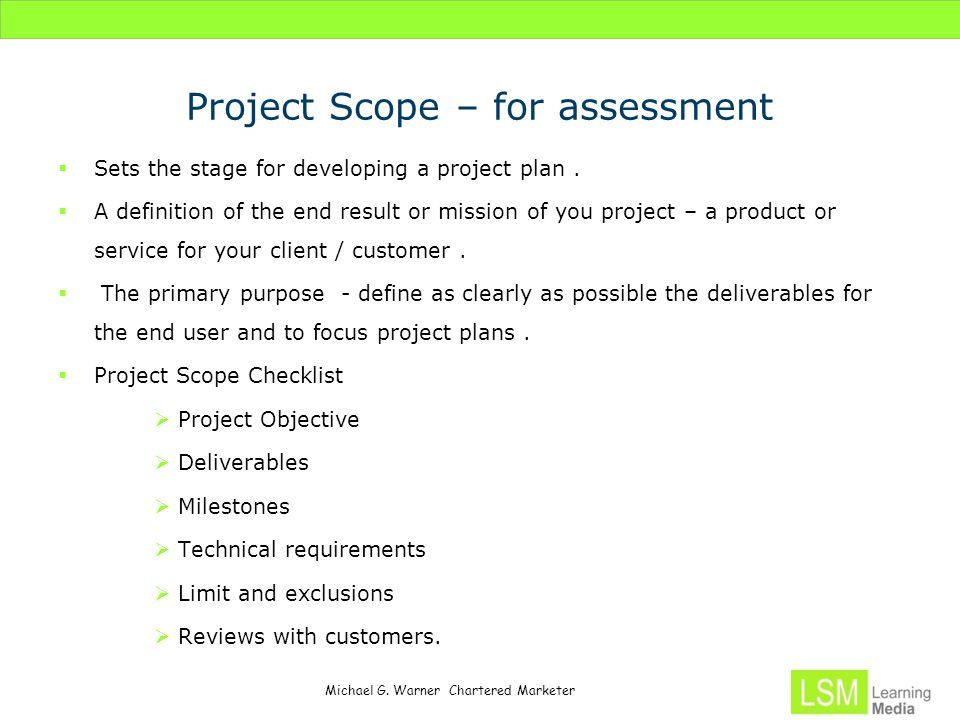 Project Management Process Orientation And Scope