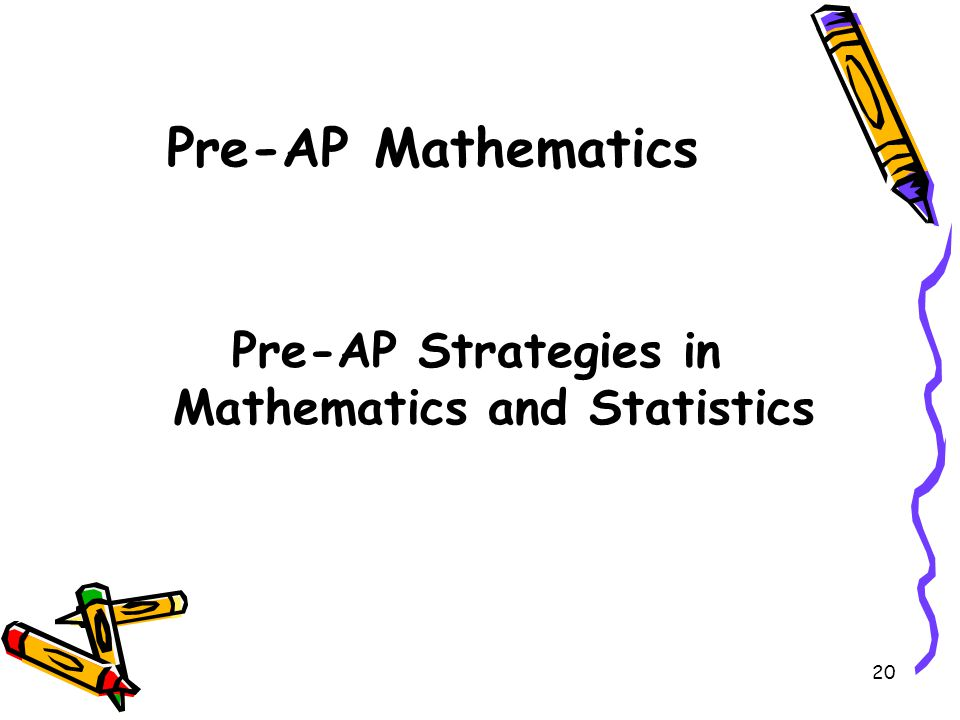 Pre-AP Strategies in Mathematics and Statistics