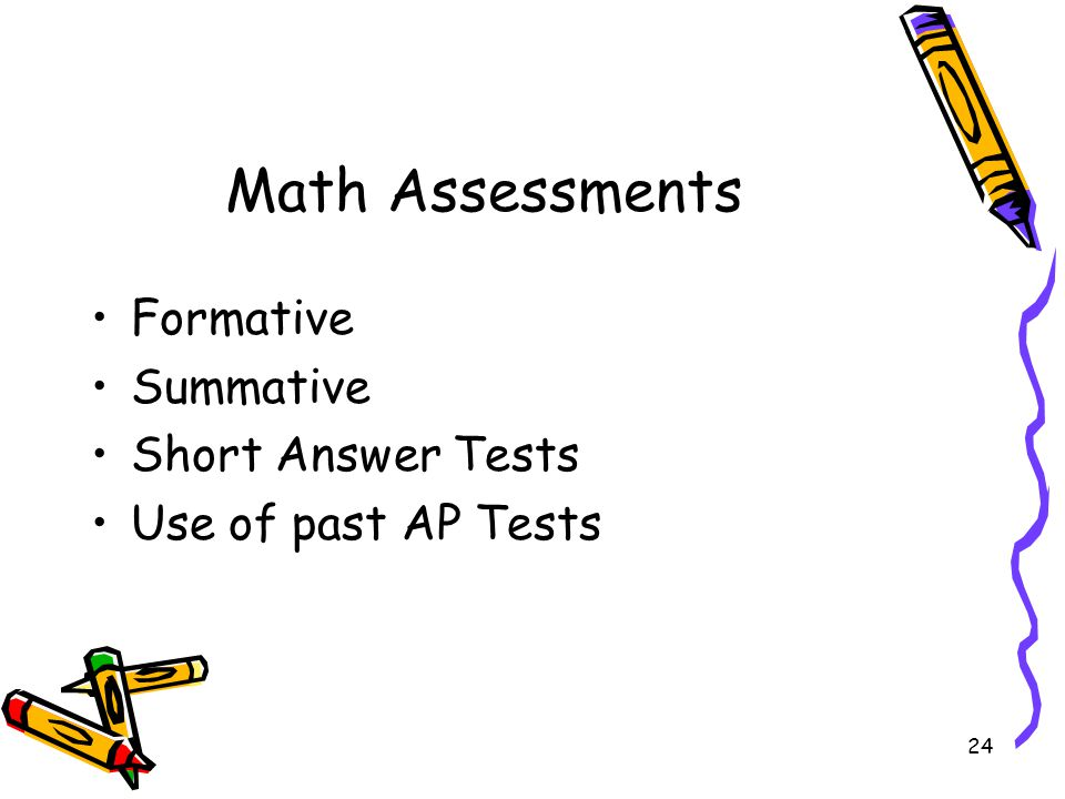 Math Assessments Formative Summative Short Answer Tests