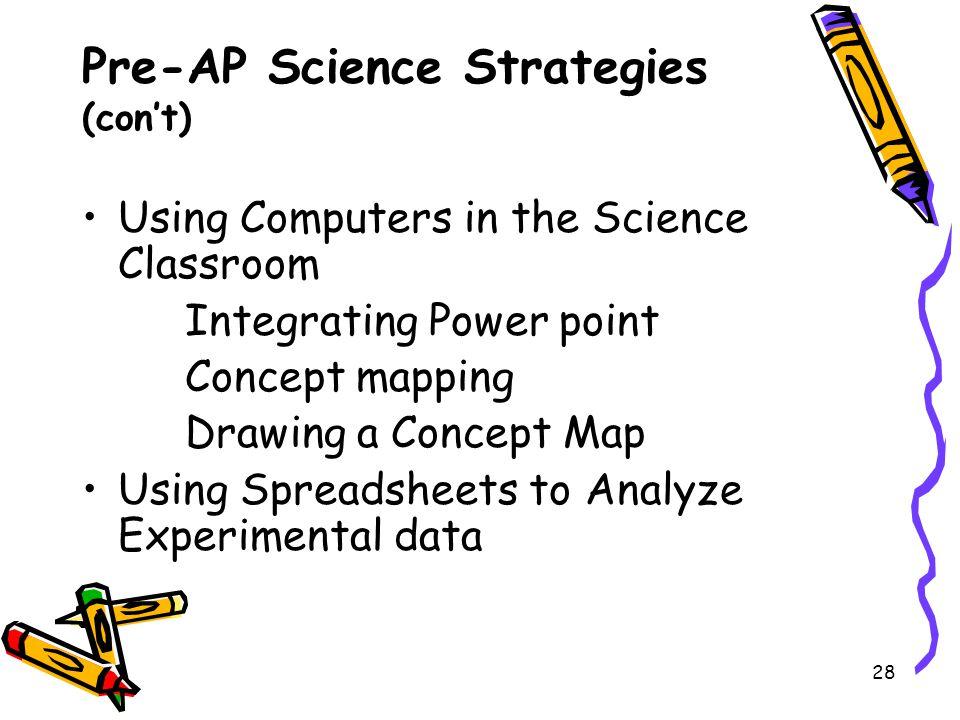 Pre-AP Science Strategies (con't)