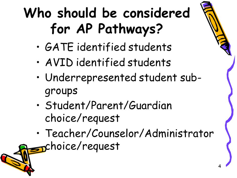 Who should be considered for AP Pathways