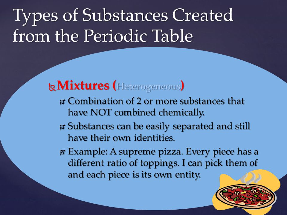Types of Substances Created from the Periodic Table