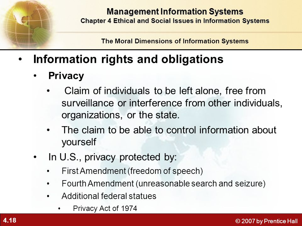 Information rights and obligations