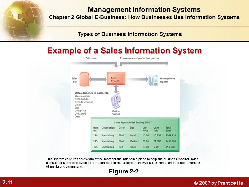 Example of a Sales Information System