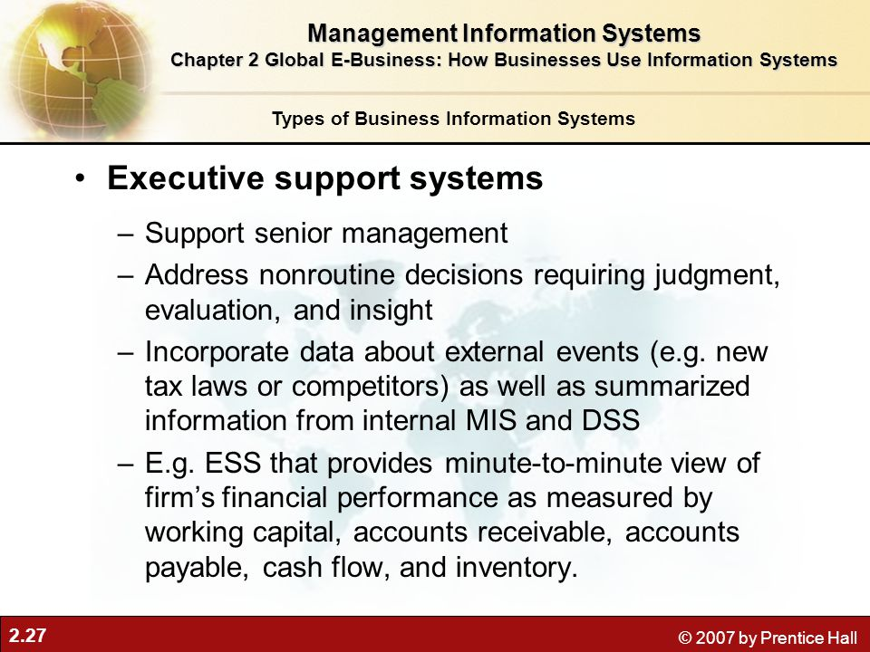 Executive support systems