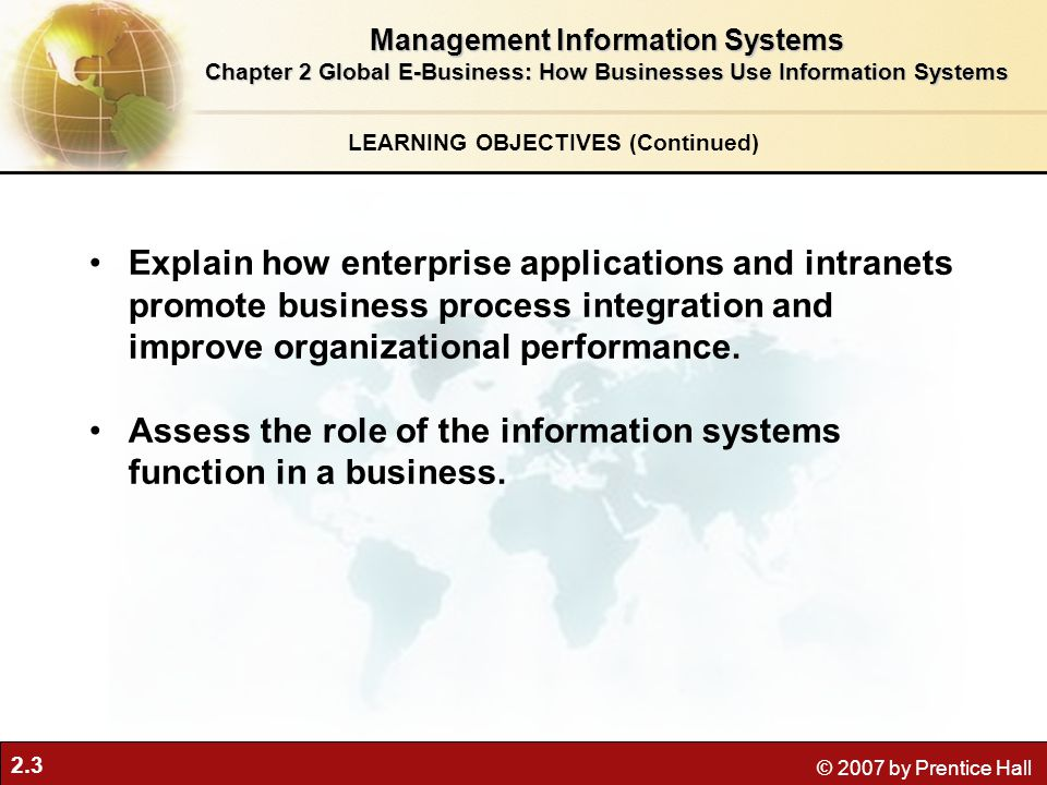 Assess the role of the information systems function in a business.