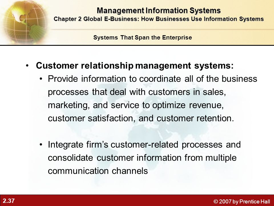 Customer relationship management systems: