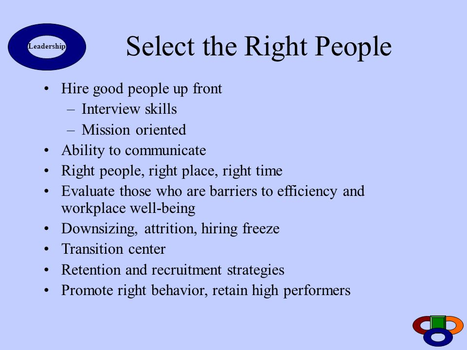 Select the Right People