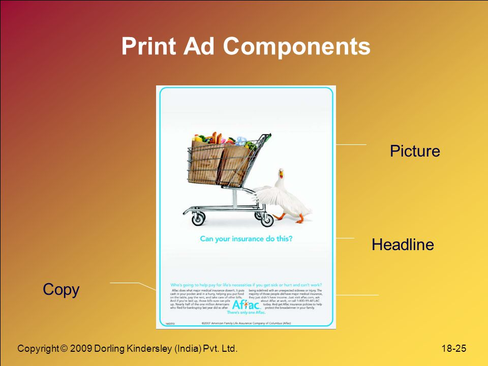 Print Ad Components Picture Headline Copy