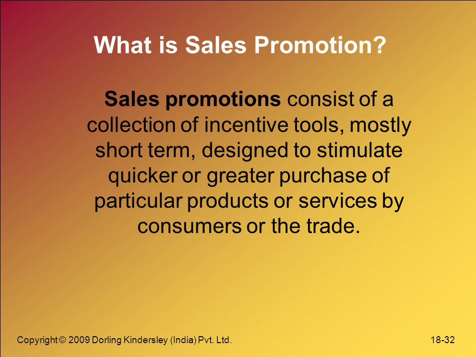 What is Sales Promotion