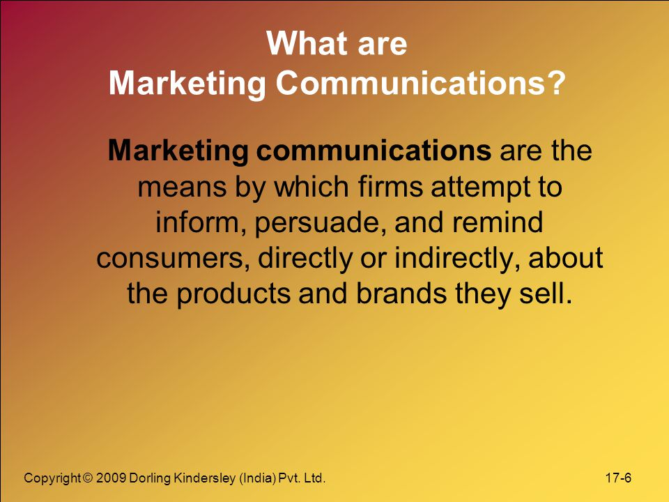 What are Marketing Communications
