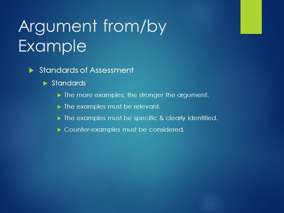 Argument from/by Example