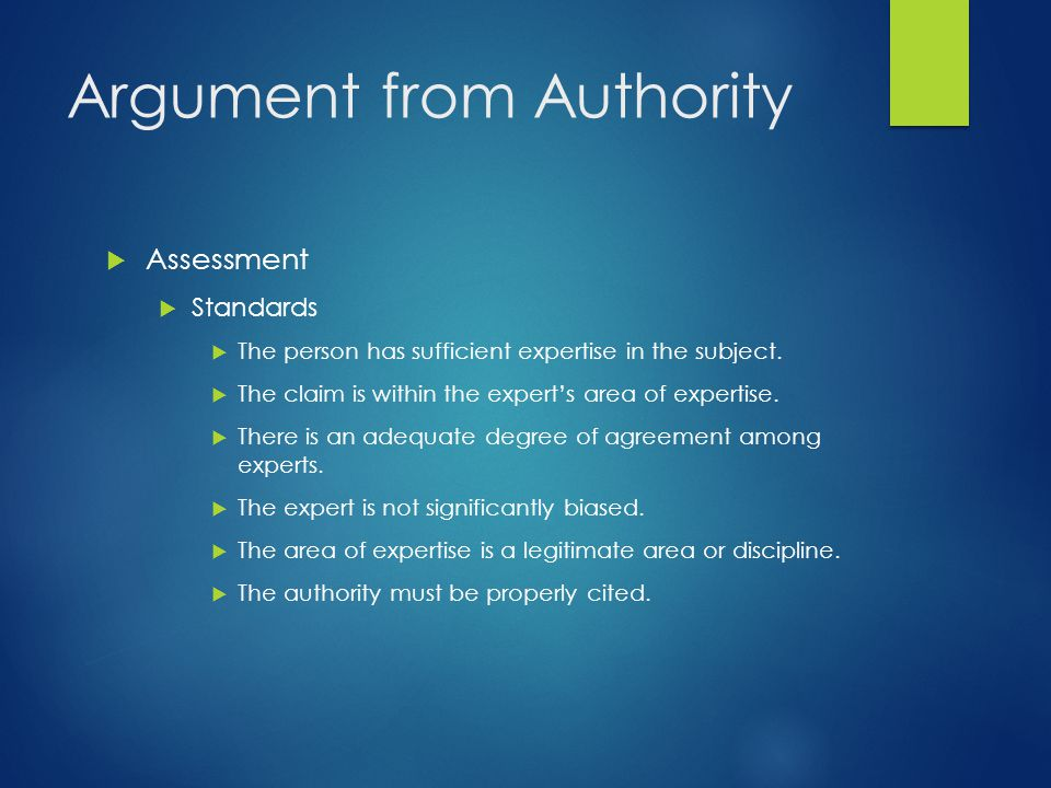 Argument from Authority