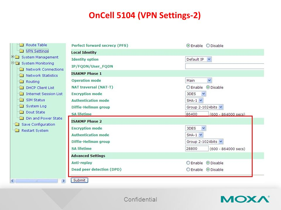 OnCell 5104 (VPN Settings-2)