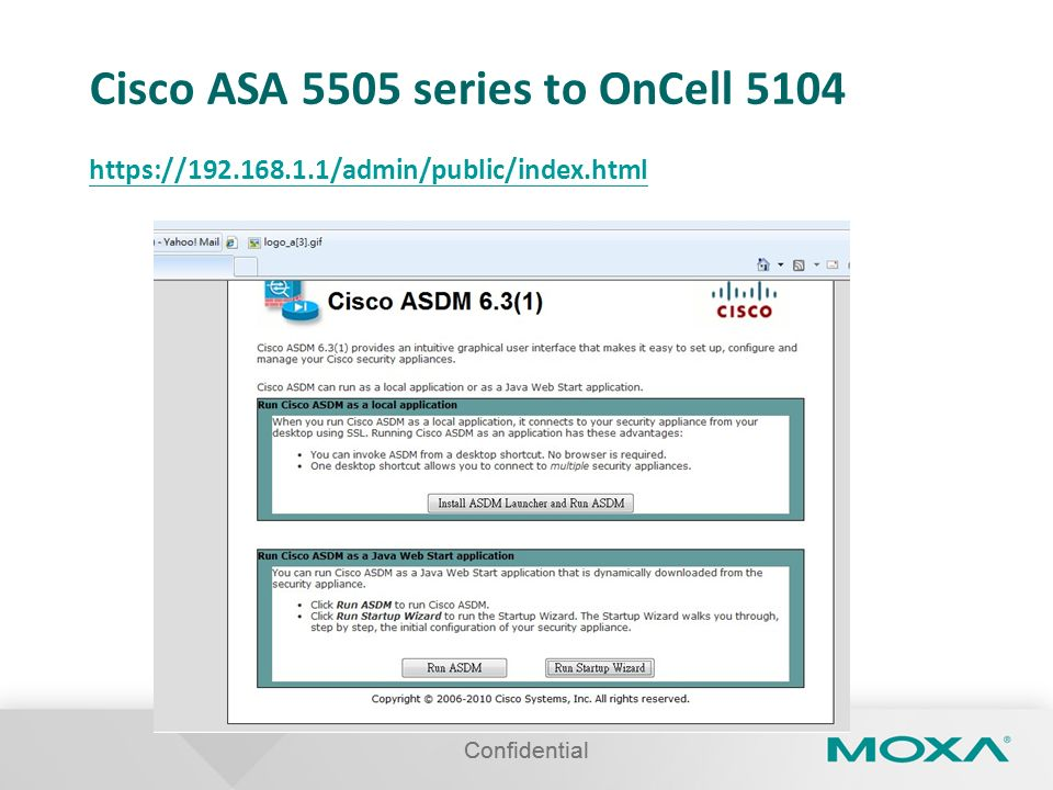 Cisco ASA 5505 series to OnCell 5104