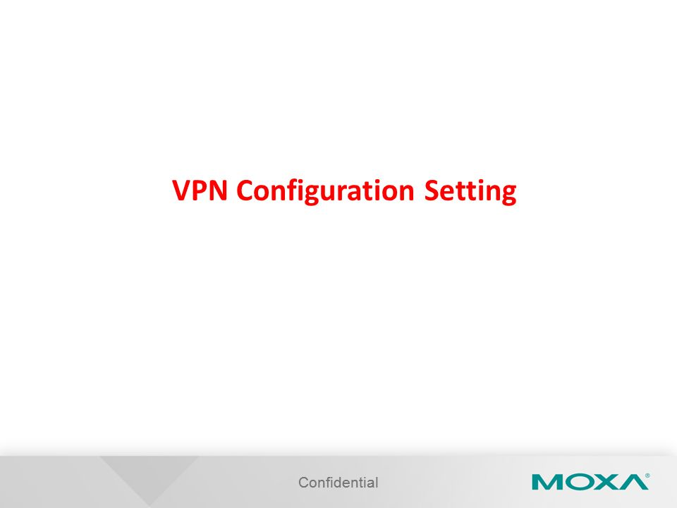 VPN Configuration Setting