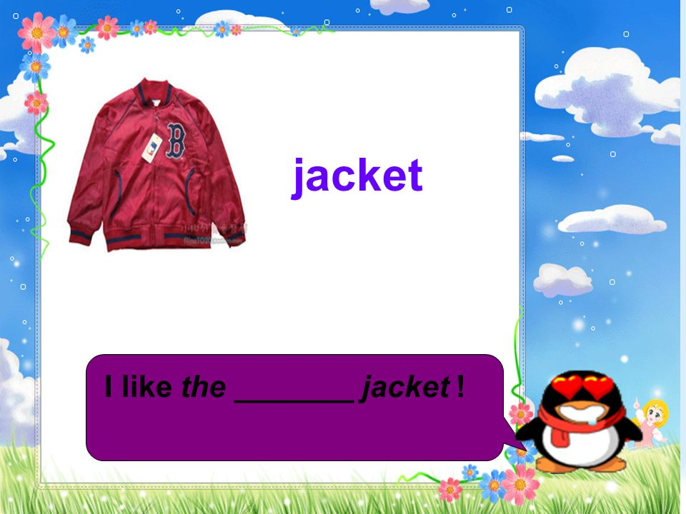 jacket I like the _______ jacket !