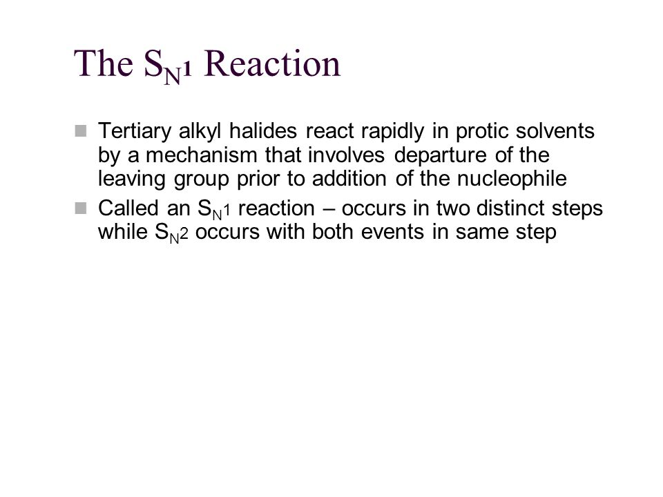 The SN1 Reaction