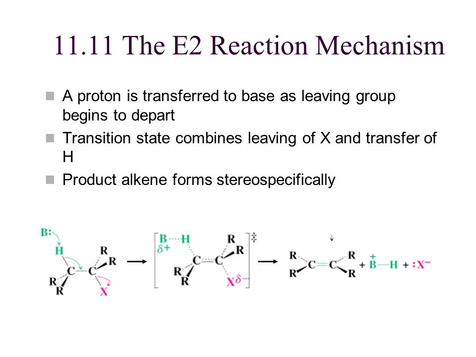 11.11 The E2 Reaction Mechanism