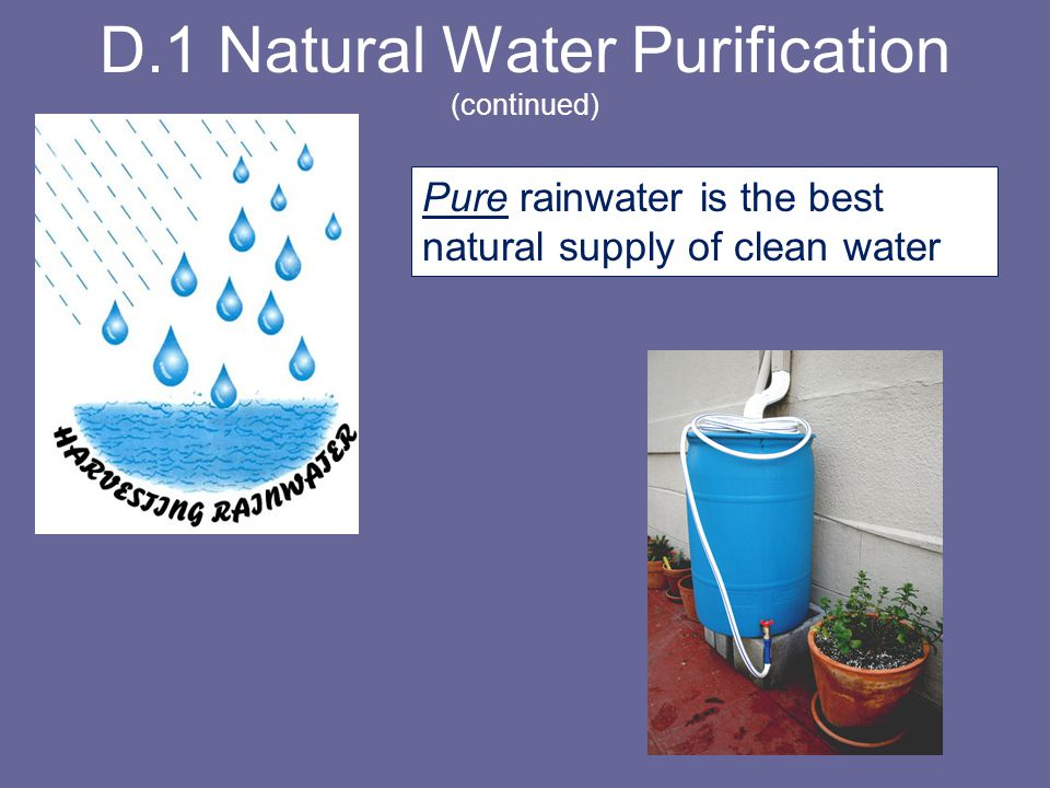 D.1 Natural Water Purification (continued)
