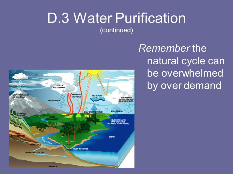 D.3 Water Purification (continued)