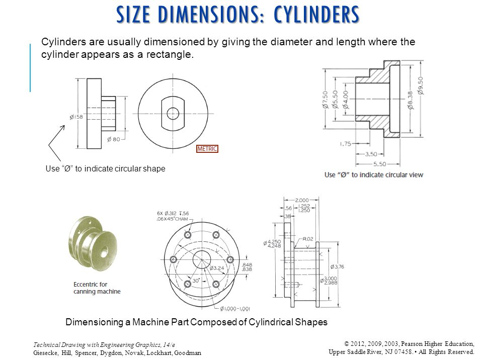 SIZE DIMENSIONS: CYLINDERS