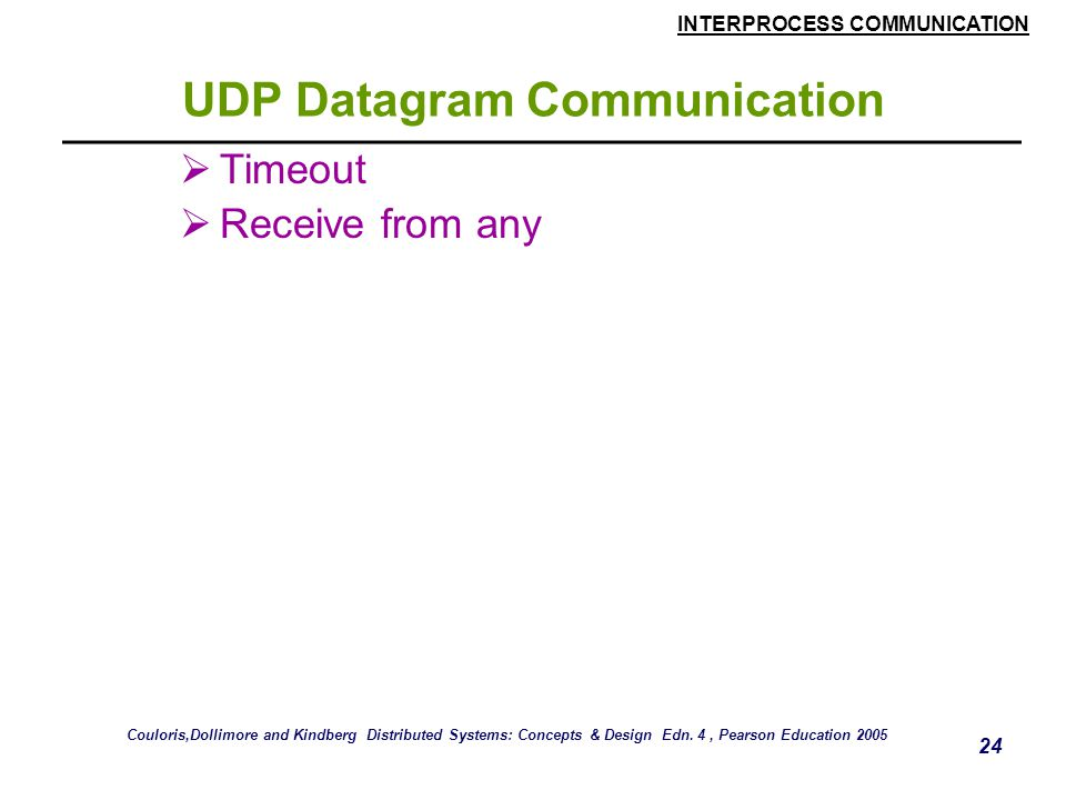 UDP Datagram Communication