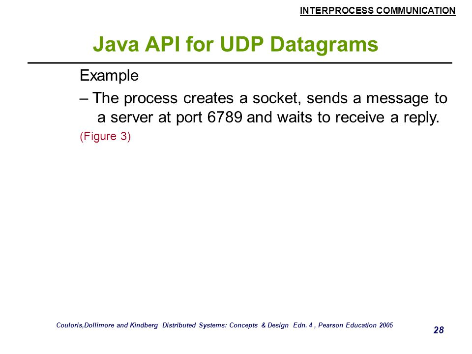 Java API for UDP Datagrams