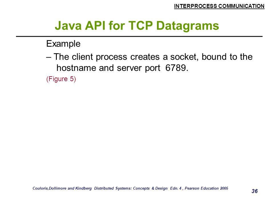 Java API for TCP Datagrams