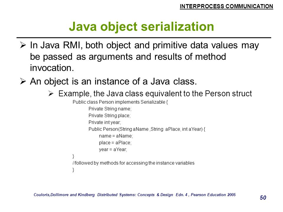 Java object serialization
