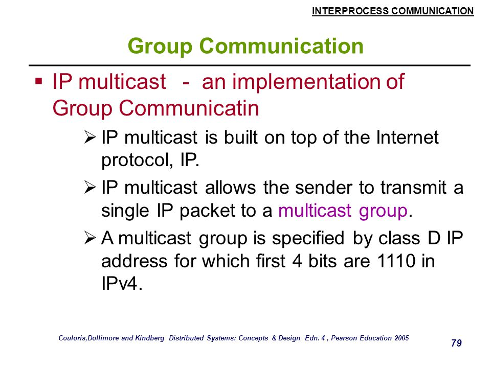 IP multicast - an implementation of Group Communicatin