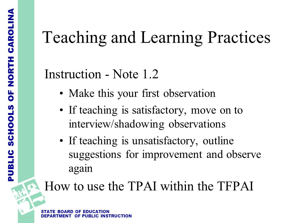 Teaching and Learning Practices