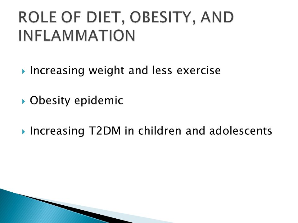 ROLE OF DIET, OBESITY, AND INFLAMMATION