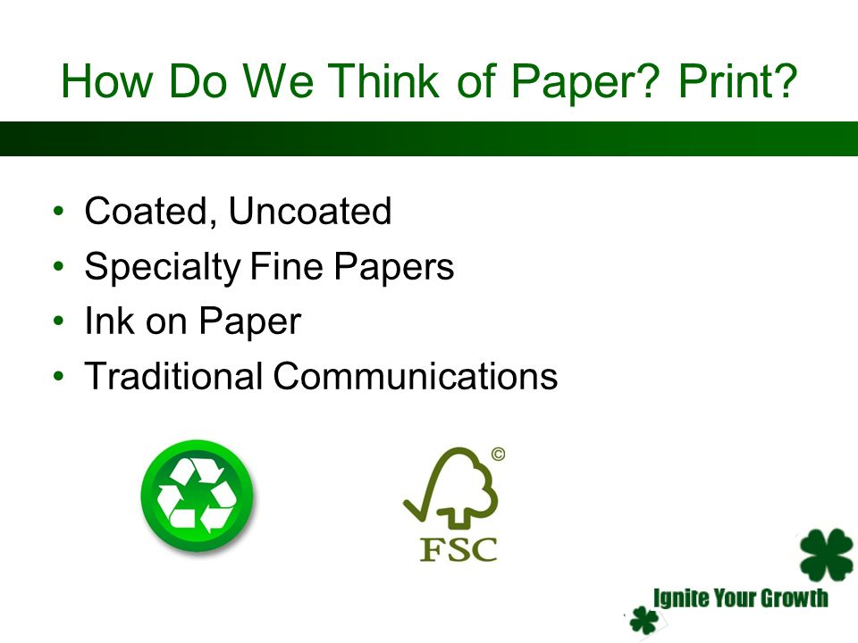 How Do We Think of Paper Print