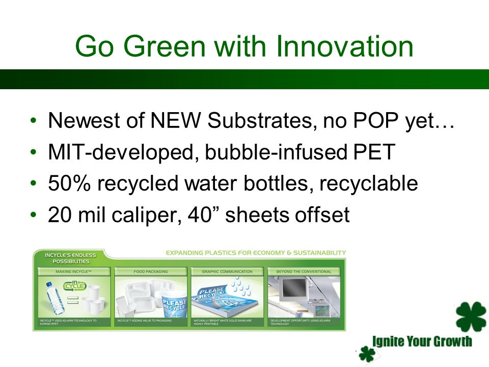 Go Green with Innovation