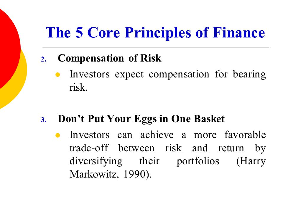 The 5 Core Principles of Finance