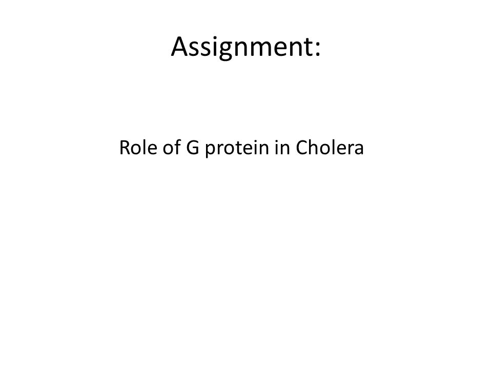 Role of G protein in Cholera
