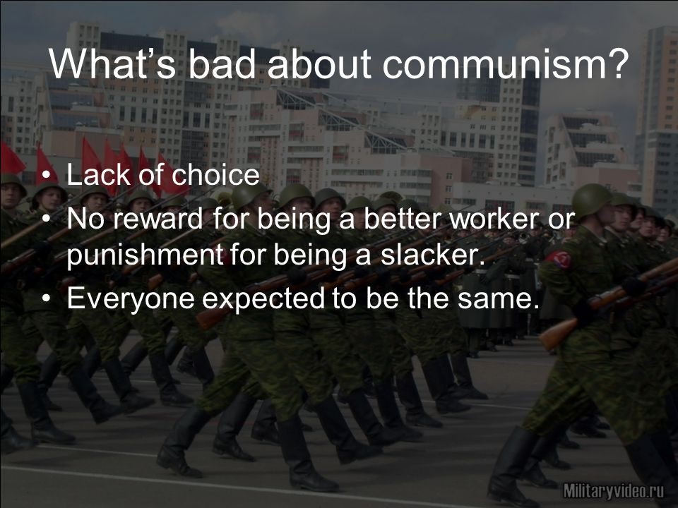 What's bad about communism