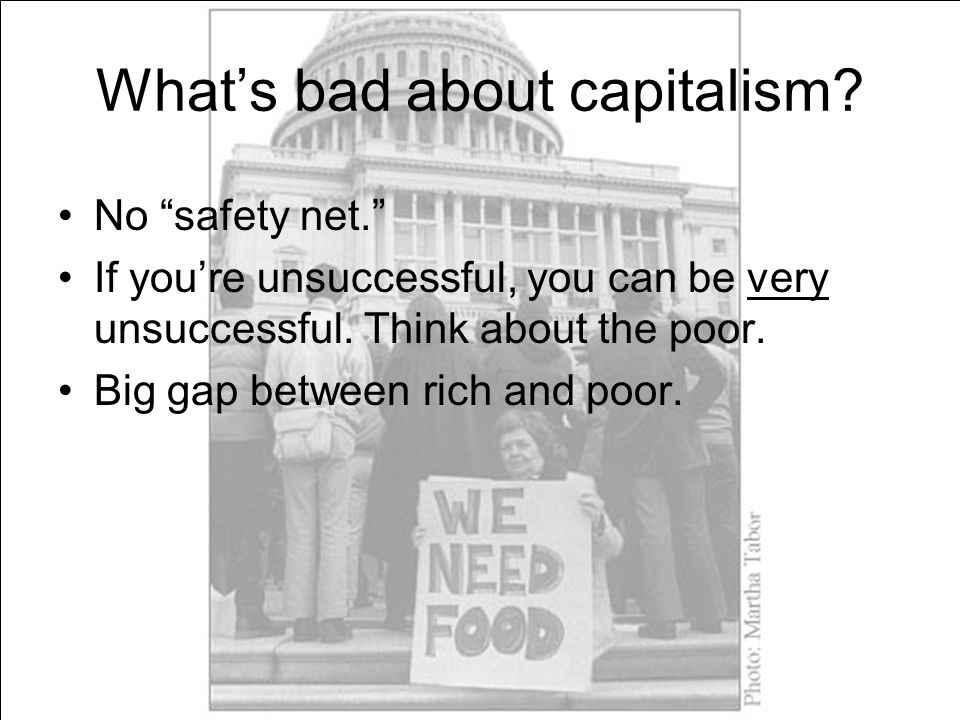 What's bad about capitalism