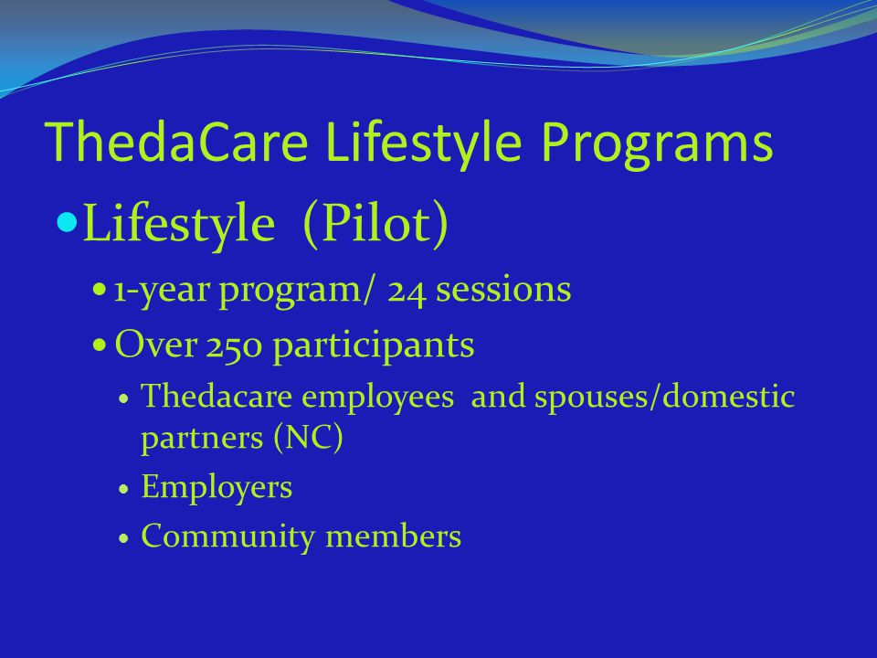 ThedaCare Lifestyle Programs